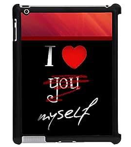 Printvisa 2D Printed Love Designer back case cover for Apple ipad 2 - D4361