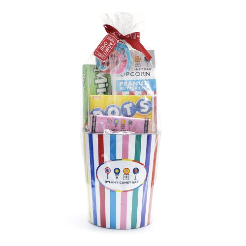 Dylan's Candy Bar Striped Popcorn Basket