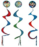 Disney Garden Windspirals Set A, Mickey with Friends, Pooh with Balloons, Tink, Blue