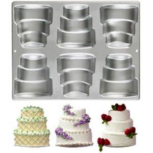 Wilton 6-Cavity Mini-Tiered Cake Pan (Mini Wedding Cake Pans compare prices)