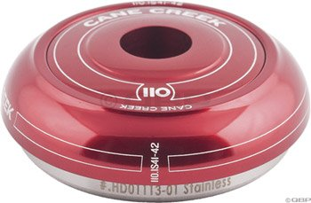 "Cane Creek 110-Series Integrated Short Cover Top For 41Mm Head Tube 1-1/8"" Stem Clamp Diameter Red"