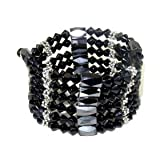 Magnetic Wrap Necklace/Bracelet - Black 32 Inches in Length