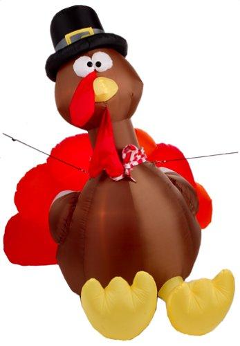 Airblown turkey outdoor d cor home garden decor seasonal holiday decorations for Airblown turkey decoration