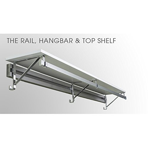 Arrange A Space Rail & Hangbar with 14 in. Top Shelf - 85-91 in. spacerail diy physics space ball rollercoaster with powered elevator 32000mm rail