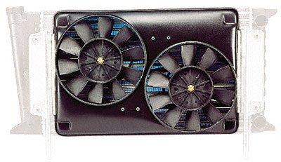 "Flex-A-Lite 365 Scirocco Radiator Black 8 5/8"" Dual Electric Reversible Fan"
