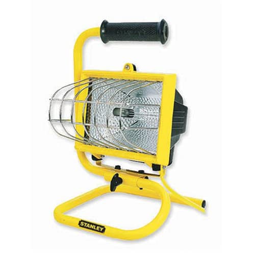 Craftsman 500 Watt Halogen Worklight: Stanley W12662 500-Watt Portable Halogen Worklight, Yellow
