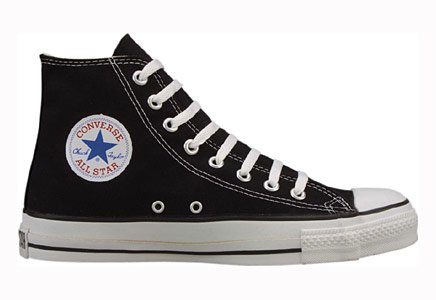 Converse Chuck Taylor All Star Hi Top Black Canvas with Extra Pair of Black Laces men's 10.5