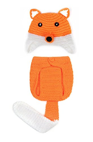 Nine States New Born Baby Infant Crochet Knitted Fox Costume Photograph Prop