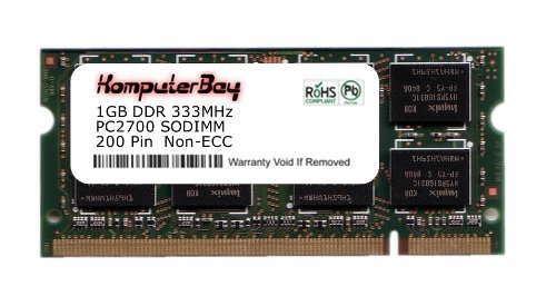 Komputerbay 1GB DDR SODIMM (200 pin) 333Mhz DDR333 PC2700 FOR Compaq Presario R4029EA 1 GB brand new ddr1 1gb ram ddr 400 pc3200 ddr400 for amd intel motherboard compatible ddr 333 pc2700 lifetime warranty