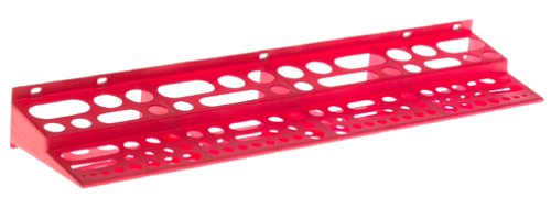 Akro-Mils 8024 Plastic Wall Mounted Tool Holder Rack, Red