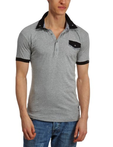 Religion Cambare Polo Men's T-Shirt Grey Marl Small