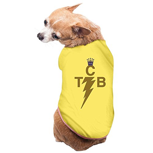 [SHBOR Small Dog Legend The King Of Rock 'n' Roll TCB 100% Cotton Vest Yellow] (Elvis Presley Dog Costumes)