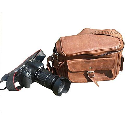 LUST Leather Big Camera DSLR Padded Digital Camera Bag for With Lens Partition 2