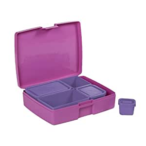 Laptop Lunches Bento-ware Bento Lunch Box with BPA-Free, Leak-proof Containers, Pastel (L600-pastel)
