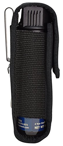 Pepper Enforcement Metal Belt Clip Tactical Holster for 4 oz. Law Enforcement Pepper Spray Canisters (Holster Only - Pepper Spray Not Included) (Pepper Clip compare prices)