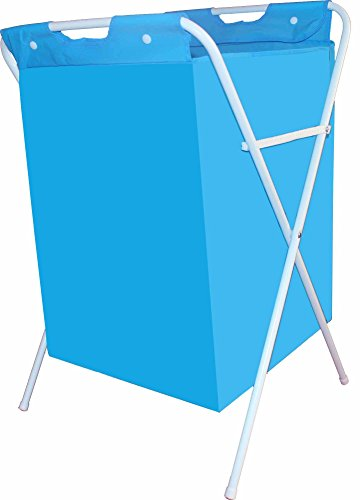 Bright Blue Laundry Hampers Stand 18 Gallon 26