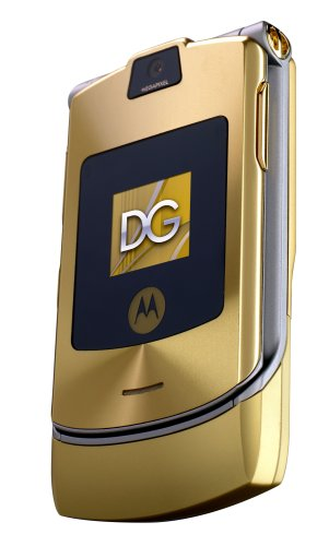 Motorola RAZR V3i Dolce & Gabbana Unlocked Cell Phone with MP3/Video Player, MicroSD--International Version with No Warranty (Gold)