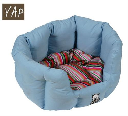 YAP-Dog-Oval-Cat-Bed-18inch-Blue