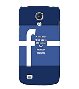PRINTVISA Quotes Facebook Case Cover for Samsung Galaxy S4 Mini