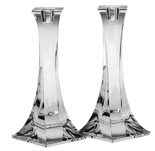 Miller Rogaska by Reed & Barton Crystal Tango 8-Inch Candlesticks, Pair