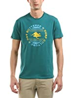 Hot Buttered Camiseta Manga Corta Surf Culture (Verde Agua)