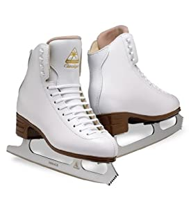 Jackson Classique Ice Skates - JS1990 Ladies White Figure Ice Skates by Jackson