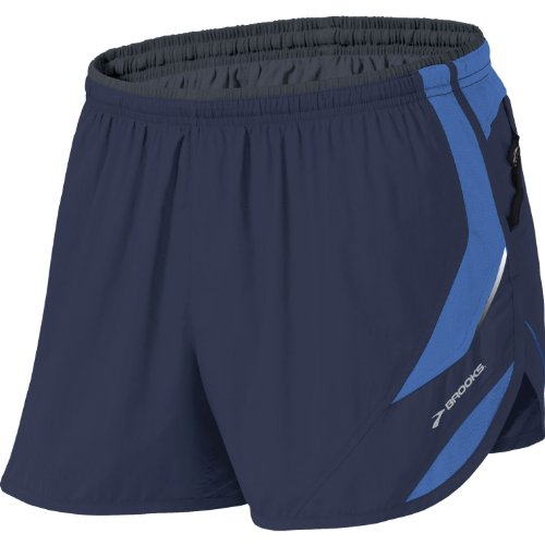 Brooks Brooks Men's HVAC Synergy Short II, Color: Midnight/Galaxy, Size: S