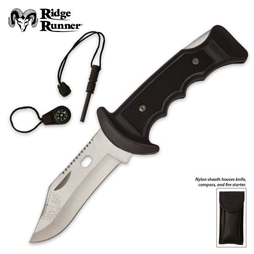 Ridge Runner Pocket Knife With Compass And Fire Starter