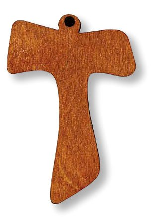 New Wooden Tau Cross Christian Catholic Pendant Medal Charm Religious Necklace