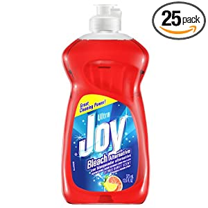 Joy Ultra With Bleach Alternative Dishwashing Liquid, Citrus Burst Scent, 12.6 Ounce (Pack of 25)