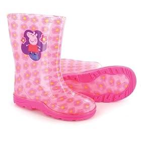 Peppa Pig 'Flower' Girls Peppa Pig Wellington Boots - Pink