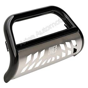 Aries B35-2002 Black  Bull Bar with Steel Skid Plate