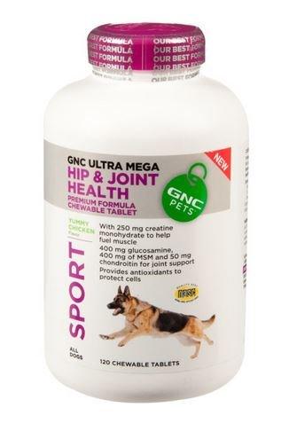 Sport Gnc Dog Ultra Mega Sport Hip & Joint Health 120 Chewable Tablet