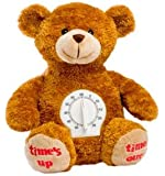 Time's Up/Time Out Plush Bear with Timer, 8.5 Inches (Times Up Time Out Stuffed Teddy Bear from Jaag)