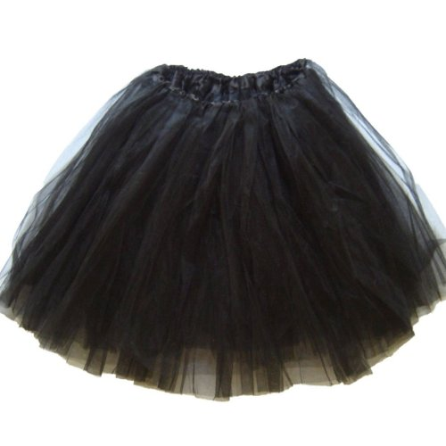 Womens Plus Size Ballet Tutu Waist 28-56 Length 16-17 by Southern Wrag Company (Black)