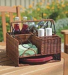 Sale!! Wicker Tabletop Organizer Natural (Transport)