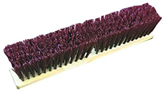 Zephyr 39408 Duro/Strand Red Poly Block Push Broom