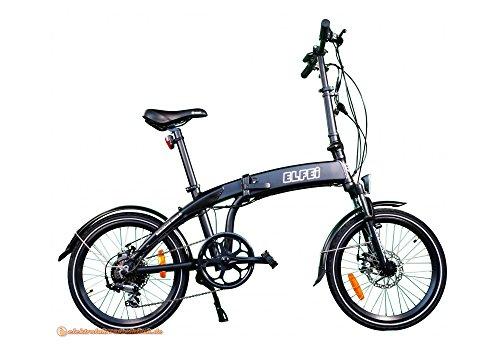 elfei Compact per bicicletta pieghevole City elettrica bicicletta pieghevole e bicicletta Bike E-Bike Eletro Pedelec con 250W ruota posteriore motore batteria agli ioni di litio 36volt, 10,2Ah 367WH