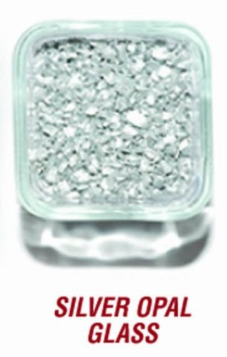 SANDTASTIK PRODUCTS INC. ICE20LBSILVER 20 LB. BOX OF SILVER OPAL GLASS
