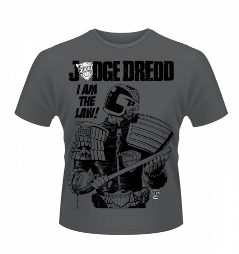 """Judge Dredd I Am The Law 3 t-shirt - Official - Films,TV and movie Geeky Tshirt - Charcoal X-Large (46/48"""")"""