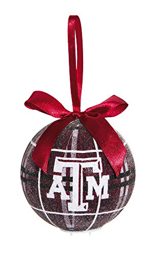 100Mm Led Ball Ornament, Texas A&M