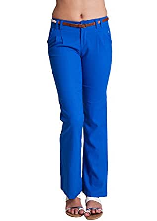 Unique  The Trends Black Amp Royal Blue FoldOver Yoga Pants  Women  Zulily