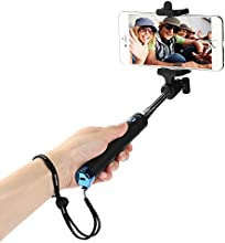 [2015 New Release] Selfie Stick, Poweradd™ One-piece Design Self-portrait Monopod Portable Extendable Wireless Bluetooth Selfie Handheld Stick with Built-in Bluetooth Remote Shutter for Quick Snap with Adjustable Phone Holder for Apple iPhone 6 6Plus 5S 5C 5 4S 4, Samsung Galaxy S6 Edge S6 S5 S4 S3 Note 4 Note 3 Note 2, LG G4 G3 G2, HTC One M9 M8, Sony Xperia and More