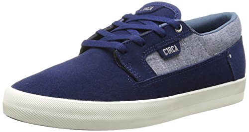 C1RCA Men's Lancer Skate Shoe, Deep Sea/Chambray, 10 M US