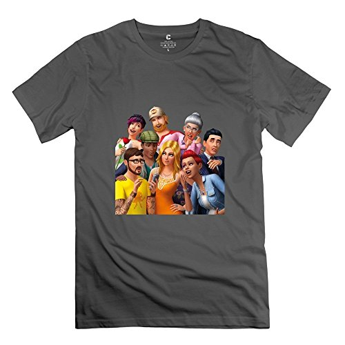 The Sims 4 Logo 100% Cotton DeepHeather Tshirt For Mens Size L (The Sims 4 Merchandise compare prices)