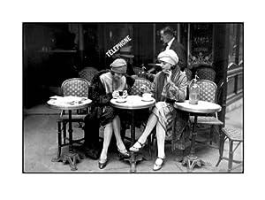 Cafe et Cigarette, Paris, 1925 by Roger-Viollet Collection - 11 3/4 x 9 1/2 inches - Fine Art Print / Poster