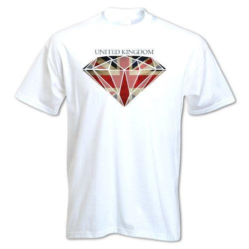 Bang Tidy Clothing Men'S Diamond Union Jack Flag T Shirt White S