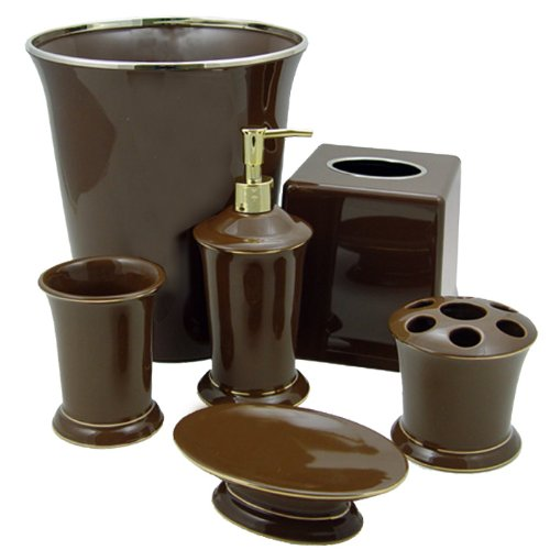 Regency Chocolate Brown Bath Accessories