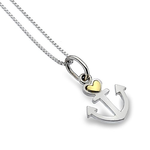 sterling-silver-925-brass-anchor-heart-pendant-necklace