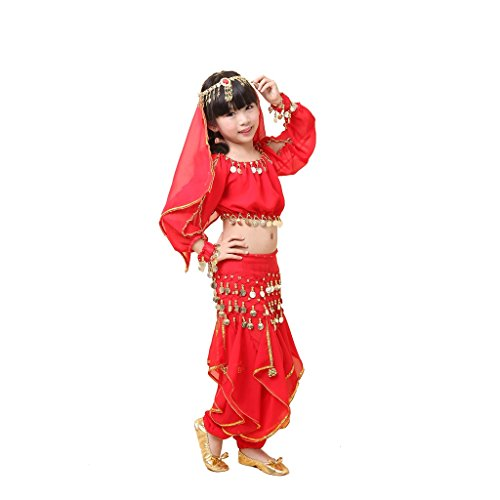 Pilot-trade Kids Belly Dance Outfit Costume Set Top Pants Suit